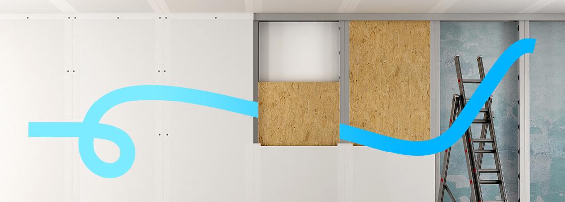 Isolation par l interieur avec pose de placo