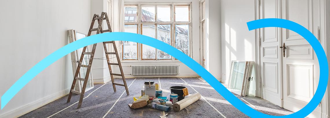 Travaux de renovation energetique dans une piece d un logement